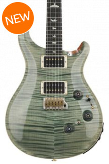 PRS Custom 24 Piezo 10-Top - Trampas Green with Pattern Regular Neck