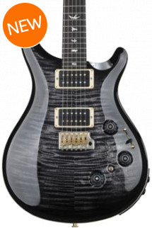 PRS Custom 24 Piezo 10-Top - Charcoal Burst with Pattern Thin Neck