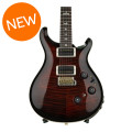 PRS Custom 24 Piezo 10-Top - Fire Red Burst with Pattern Thin Neck
