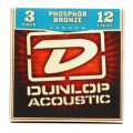 Dunlop DAP1254 Phosphore Bronze Light Acoustic Strings 3 Pack