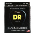 DR Strings BKE-9/46 Black Beauties K3 Coated Lite and Heavy Electric Guitar Strings