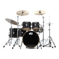 DW Collector's Series Exotic Maple Shell Pack - 5-pc Ebony Lacquer over Quilted MapleCollector's Series Exotic Maple Shell Pack - 5-pc Ebony Lacquer over Quilted Maple