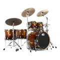 DW Collector's Series Exotic Maple Shell Pack - 5-pc, Natural to Burnt Toast Fade over African ChenchenCollector's Series Exotic Maple Shell Pack - 5-pc, Natural to Burnt Toast Fade over African Chenchen