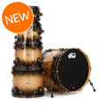 DW Collector's Exotic Shell Pack - 5-pc Natural to Quick Candy Black Burst over Quilted Maple