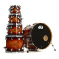 DW Collector's 5-pc Shell Pack - Deep Rich Red Burst over Exotic Mapa BurlCollector's 5-pc Shell Pack - Deep Rich Red Burst over Exotic Mapa Burl