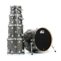 DW Collector's Series FinishPly Shell Pack - 5-pc - Black GalaxyCollector's Series FinishPly Shell Pack - 5-pc - Black Galaxy