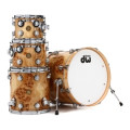 DW Collector's Exotic Maple/Gum Shell Pack - 4-pc w/20