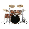 DW Collector's Series Cherry Mahogany Shell Pack - 7-piece - Natural Lacquer Finish