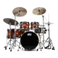 DW Collector's Series Lacquer Cherry/ Mahogany Shell Pack - 5-pc - Natural to Rich Red BurstCollector's Series Lacquer Cherry/ Mahogany Shell Pack - 5-pc - Natural to Rich Red Burst