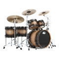 DW Collector's Series Pure Oak Shell Pack - 5-pc Satin Natural to Candy Black Burst Hard Satin LacquerCollector's Series Pure Oak Shell Pack - 5-pc Satin Natural to Candy Black Burst Hard Satin Lacquer