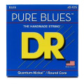 DR Strings PB-45 Pure Blues Quantum-nickel Bass Strings - .45-.105