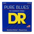 DR Strings PB5-45 Pure Blues Quantum-nickel Bass Strings - 5-string, .45-.125