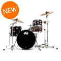 DW Collector's Jazz Mahogany/Gum 3-piece Shell Pack - Black Lacquer Finish