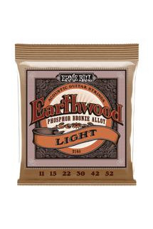 Ernie Ball PO2148 Earthwood .011-.052 Light Phosphor Bronze Acoustic Strings