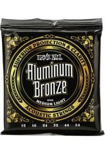 Ernie Ball 2566 Aluminum Bronze Acoustic Strings - .012-.054 Medium Light
