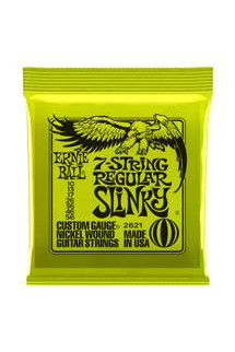 Ernie Ball 2621 7-String Regular Slinky Nickel Wound Electric Strings