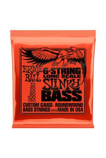 Ernie Ball 2838 Slinky Roundwound Long-Scale 6-String Bass Strings