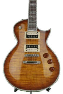 ESP LTD EC-1000FM, Plek'd, Bone Nut Upgrade - Amber Sunburst
