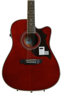 Epiphone FT-350SCE with Min-ETune - Wine Red