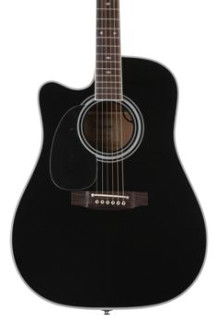 Takamine EF341SC Left Handed Acoustic/Electric w/Cutaway - Black