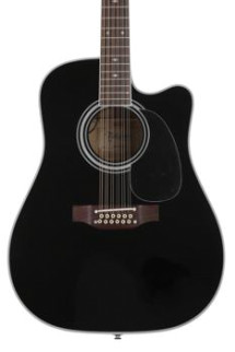 Takamine EF381SC 12-String Dreadnought Acoustic-Electric - Black