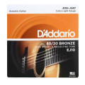 D'Addario EJ10 80/20 Bronze Extra Light Acoustic StringsEJ10 80/20 Bronze Extra Light Acoustic Strings