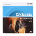 D'Addario EJ11 80/20 Bronze Light Acoustic Strings