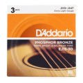 D'Addario EJ15 Phosphor Bronze Extra Light Acoustic Strings 3-PackEJ15 Phosphor Bronze Extra Light Acoustic Strings 3-Pack
