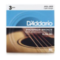 D'Addario EJ16 Phosphor Bronze Light Acoustic Strings 3-PackEJ16 Phosphor Bronze Light Acoustic Strings 3-Pack