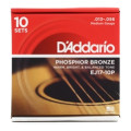 D'Addario EJ17 Phosphor Bronze Medium Acoustic Strings 10-Pack