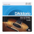 D'Addario EJ40 Silk and Steel Folk Acoustic Guitar Strings - .011-.047