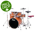 Pearl E-Pro Powered by Export Lacquer 5-pc Electronic Drum Set, Fusion - Honey Amber
