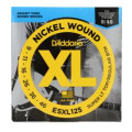 D'Addario ESXL125 Nickel Wound Double Ball End Ex Light Top/Reg Bottom Electric Strings