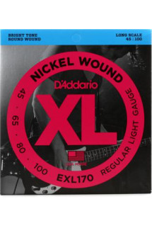 D'Addario EXL170 Nickel Wound Long Scale Light Bass Strings