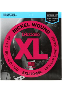 D'Addario XL170-5SL Nickel Wound Super Long Scale Light 5-String Bass Strings