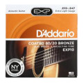 D'Addario EXP10 Coated 80/20 Bronze Extra Light Acoustic StringsEXP10 Coated 80/20 Bronze Extra Light Acoustic Strings