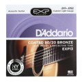 D'Addario EXP13 Coated 80/20 Bronze Custom Light Acoustic Strings