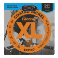 D'Addario EXP140 Coated Nickel Plated Steel Light Top/Heavy Bottom Electric Strings