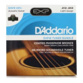 D'Addario EXP16 Coated Phosphor Bronze Acoustic Strings Light with NS Micro Sound Hole Tuner Bundle