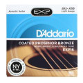 D'Addario EXP16 Coated Phosphor Bronze Light Acoustic StringsEXP16 Coated Phosphor Bronze Light Acoustic Strings