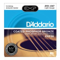 D'Addario EXP38 Coated Phosphor Bronze Light 12-String Acoustic StringsEXP38 Coated Phosphor Bronze Light 12-String Acoustic Strings