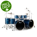 Pearl Export EXX 8-piece Double Bass Drum Set with Hardware - Electric Blue Sparkle
