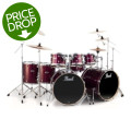 Pearl Export EXX 8-piece Double Bass Drum Set with Hardware - Wine Red