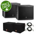 JBL EON618S Subwoofer Pair with Covers and CablesEON618S Subwoofer Pair with Covers and Cables