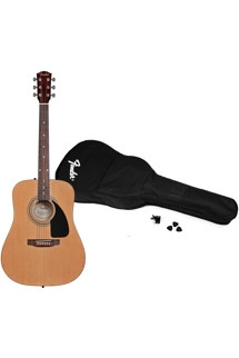 Fender FA100 Acoustic Guitar Pack - Natural