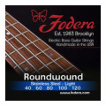 Fodera 40120 Stainless Steel Roundwound 5-string Bass Strings - 0.040-0.120 Light40120 Stainless Steel Roundwound 5-string Bass Strings - 0.040-0.120 Light