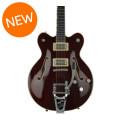 Gretsch G6609TFM Players Edition Broadkaster Center Block - Dark Cherry Stain, Bigsby TailpieceG6609TFM Players Edition Broadkaster Center Block - Dark Cherry Stain, Bigsby Tailpiece