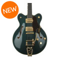 Gretsch G6609TFM Players Edition Broadkaster Center Block - Cadillac Green, Bigsby TailpieceG6609TFM Players Edition Broadkaster Center Block - Cadillac Green, Bigsby Tailpiece