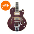 Gretsch G6655TFM Players Edition Broadkaster Jr. Center Block - Dark Cherry Stain, Bigsby TailpieceG6655TFM Players Edition Broadkaster Jr. Center Block - Dark Cherry Stain, Bigsby Tailpiece