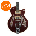 Gretsch G6659TFM Players Edition Broadkaster Jr. Center Block - Dark Cherry Stain, Bigsby Tailpiece